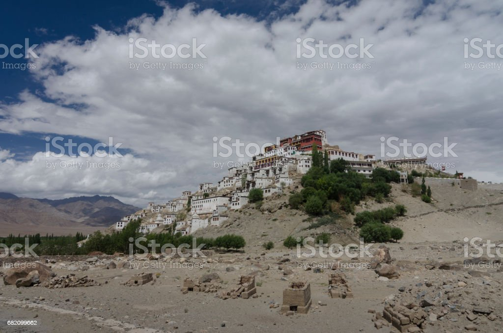 Thiksey Monastery stock photo