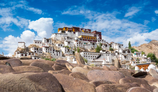 Thiksey Monastery Thiksey Monastery bodhisattva stock pictures, royalty-free photos & images