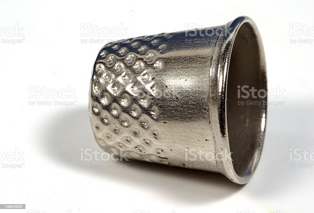 Thimble stock photo