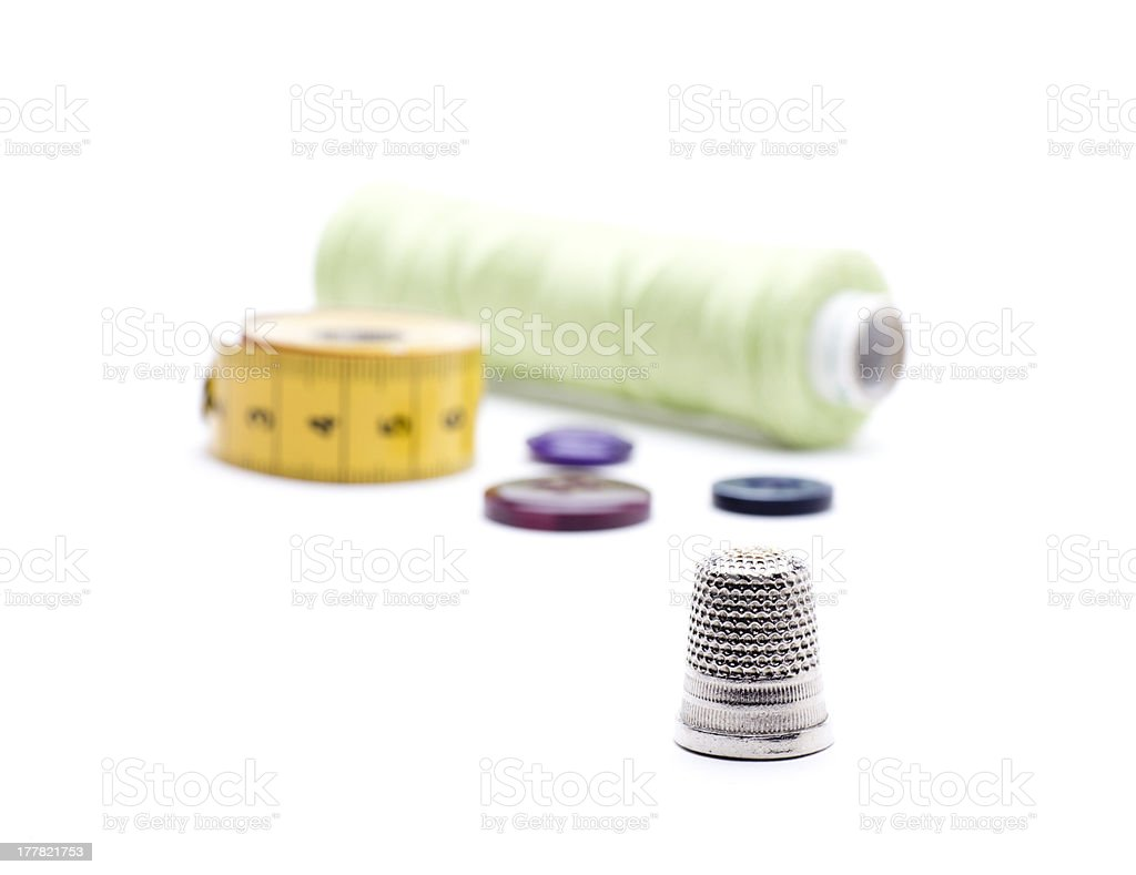 thimble royalty-free stock photo