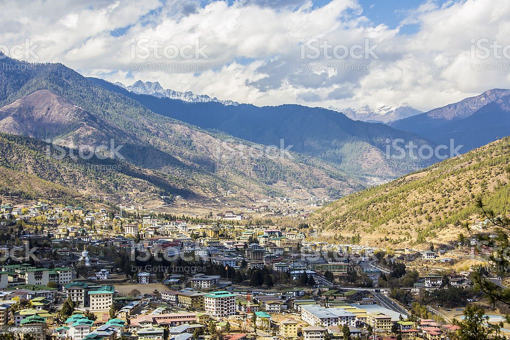 Thimpu, cityscape stock photo