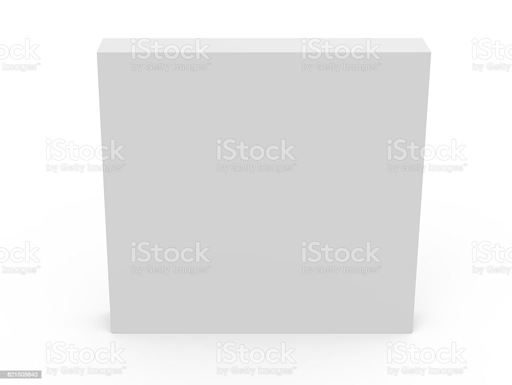 thin blank template box model foto stock royalty-free