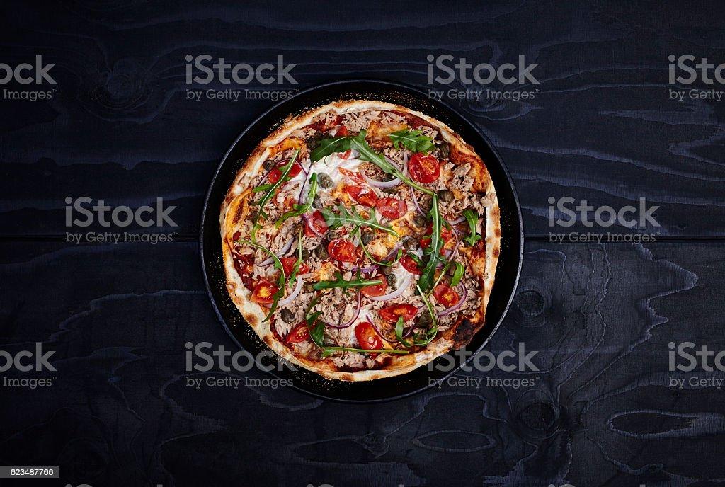 Thin crust pizza - Italian Leggera - foto de stock