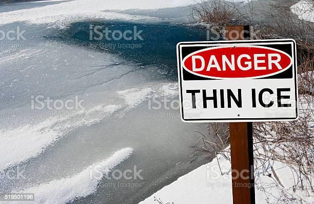 Photo of Thin Ice Warning Sign