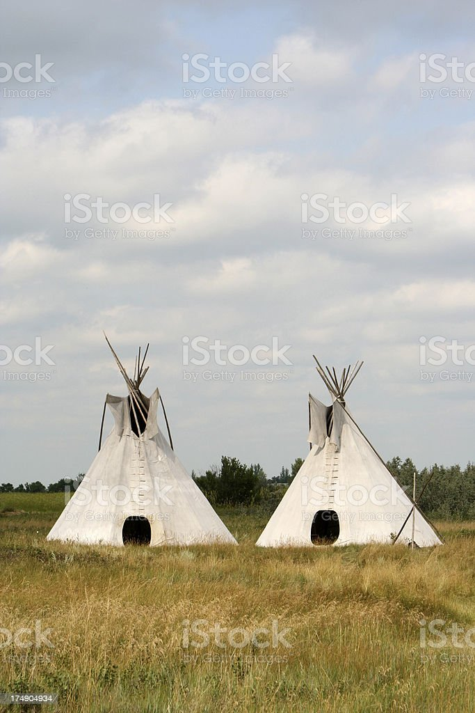 Tipis stock photo