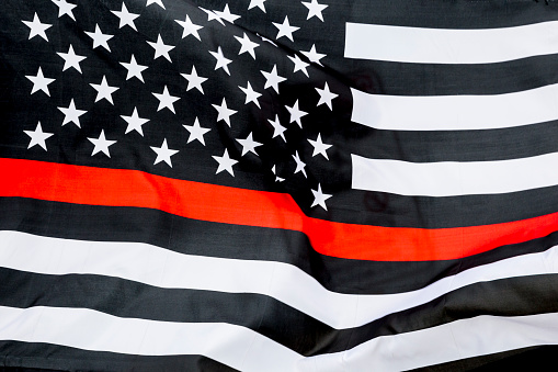 Thin Red Line American Flag Honoring Firefighters