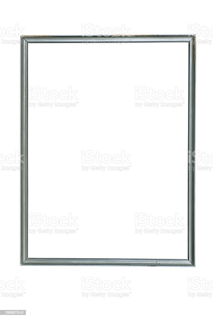 thin silver gray picture frame stock photo