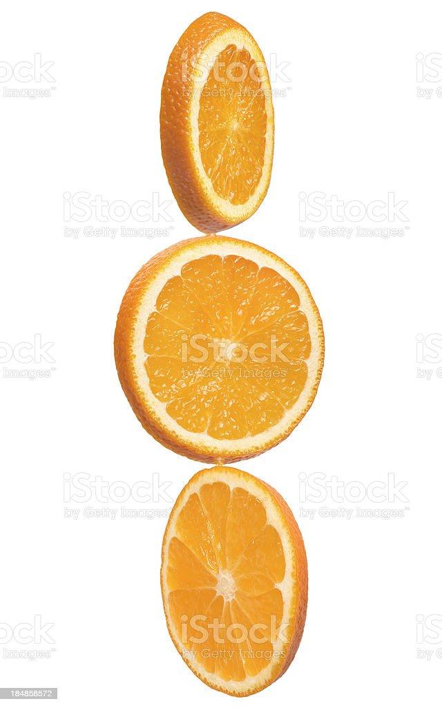 Cibo fette di frutta arancia - foto stock