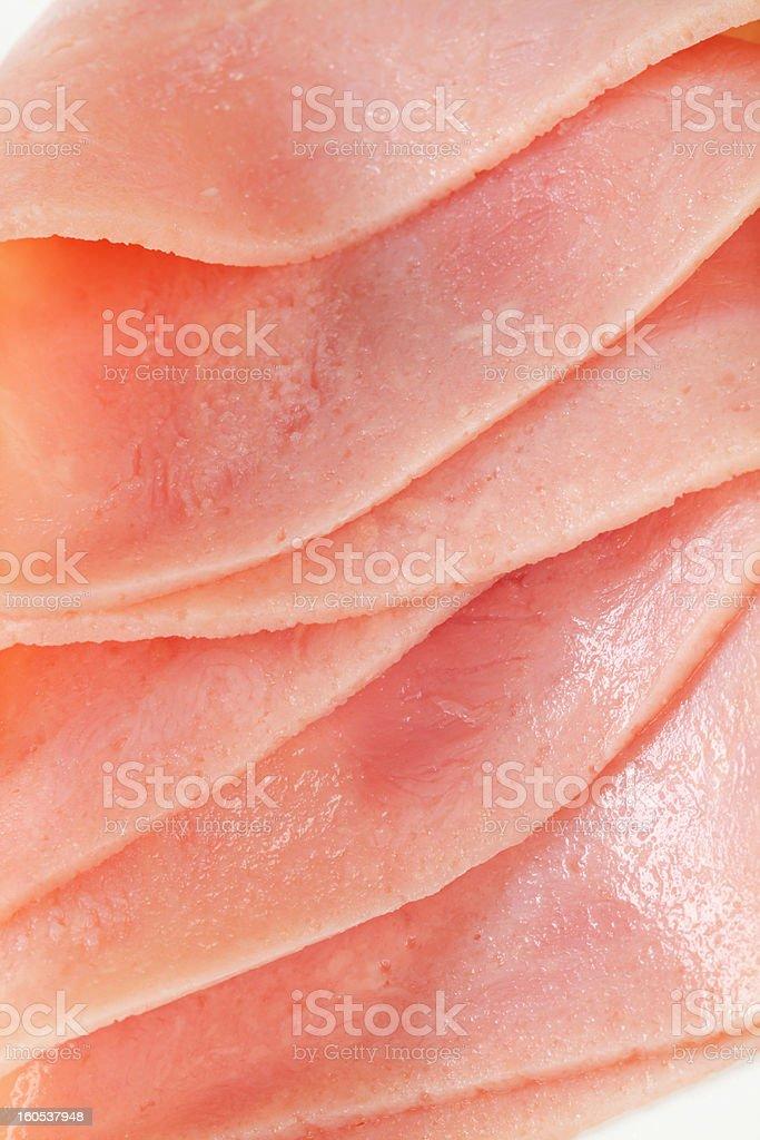 Thin slices of ham royalty-free stock photo