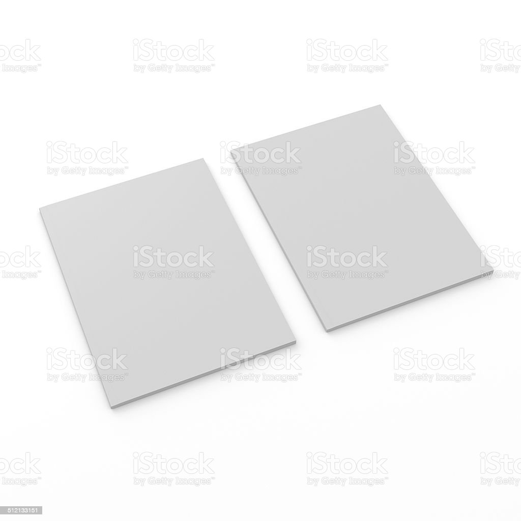 thin standard size catalogs or magazines stock photo
