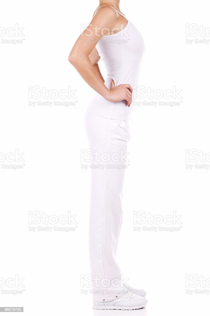 Sottile donna foto stock royalty-free