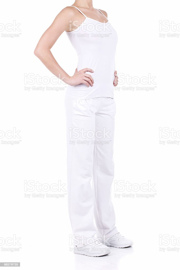 Thin woman royalty-free stock photo