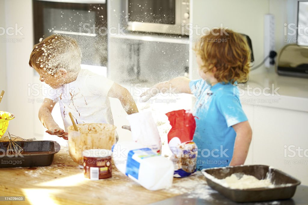 Things are getting out of control in here! stock photo
