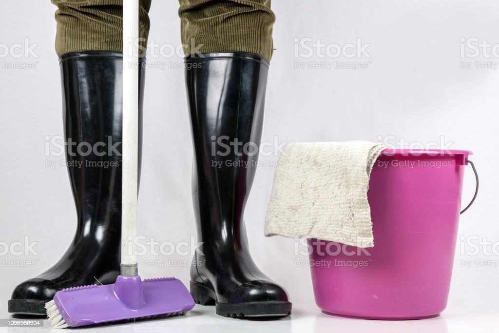 Things for thorough cleaning. - Royalty-free Bucket Stock Photo