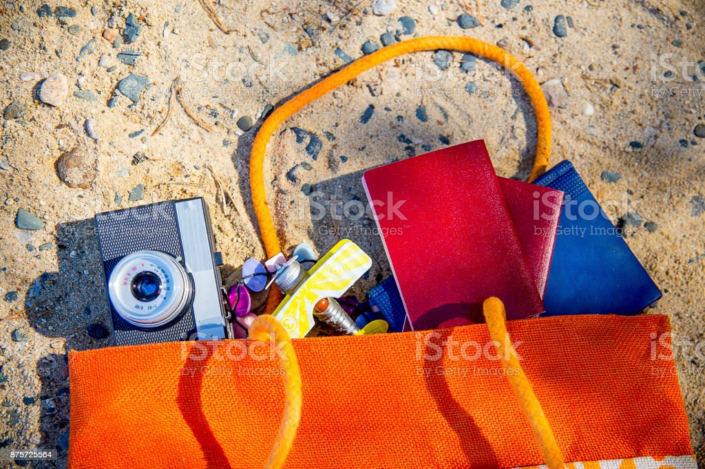 Things for travelling stock photo