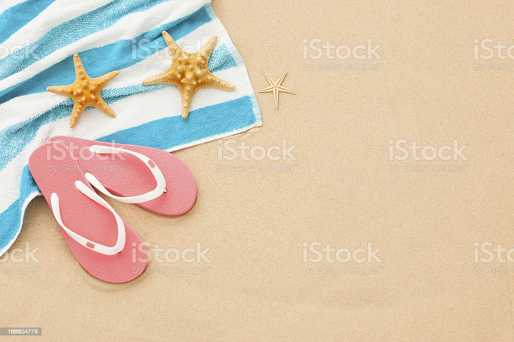Things must take to the beach. stock photo