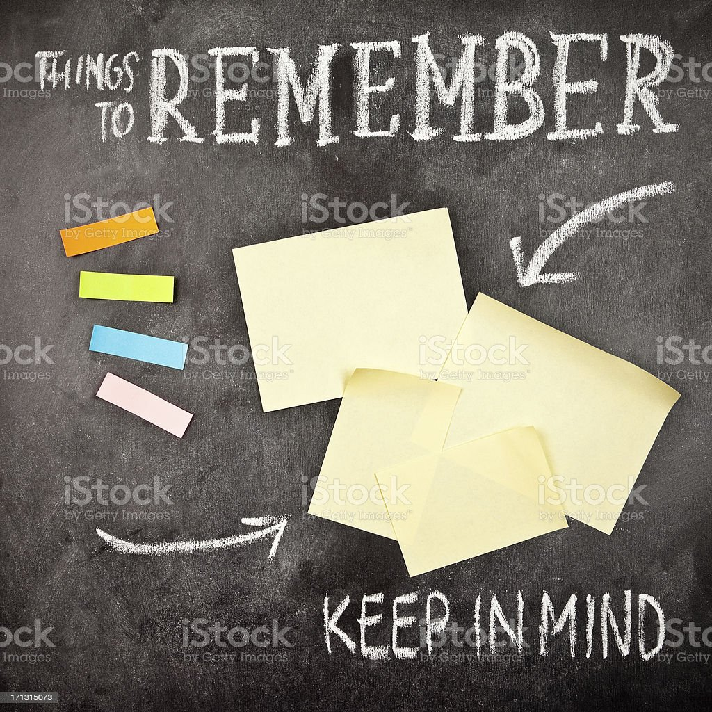 Things to Remember royalty-free stock photo