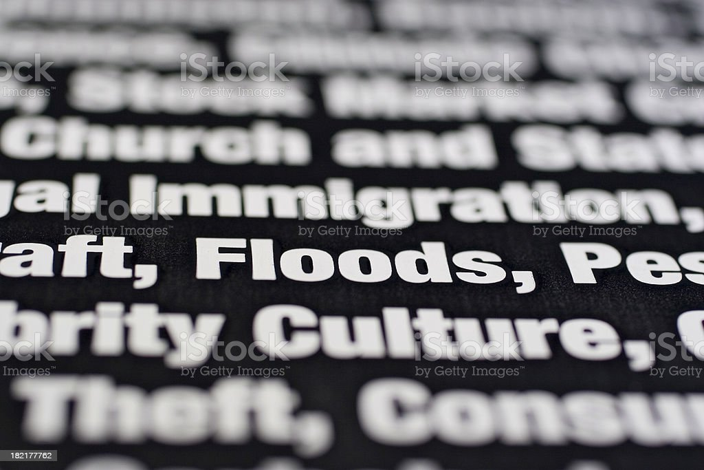 Things We Worry About: Floods royalty-free stock photo