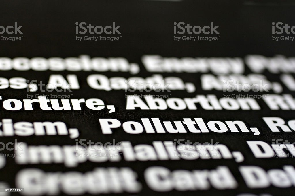 Things We Worry About: Pollution royalty-free stock photo
