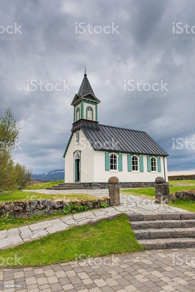 Thingvallakirkja stock photo