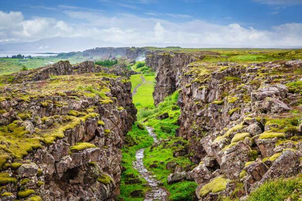 Thingvellir National Park Continental Divide Iceland Þingvellir stock photo