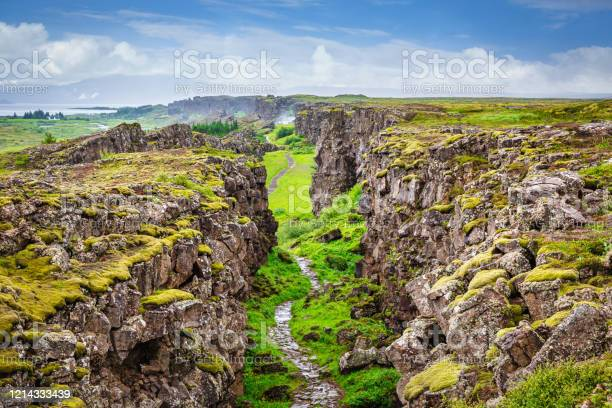 Photo of Thingvellir National Park Continental Divide Iceland Þingvellir