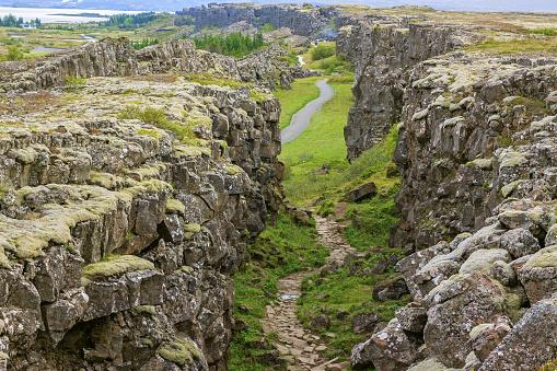 Thingvellir national park Iceland - north american - europe rift