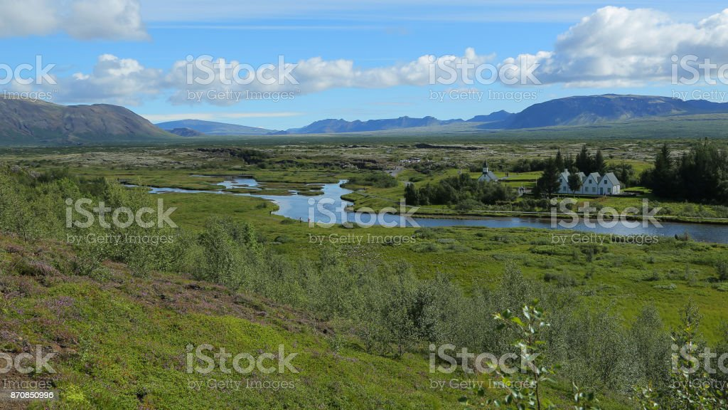 Thingvellir National Park stock photo