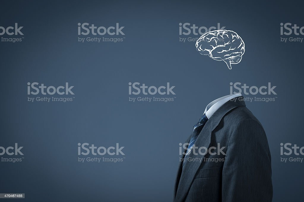 Think about business stock photo