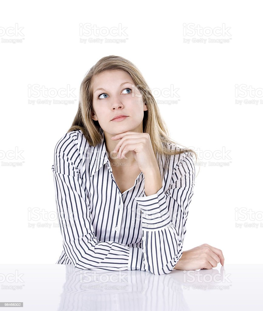 Think about it royalty-free stock photo