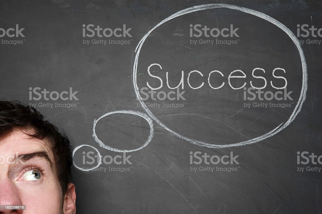 Think about success royalty-free stock photo