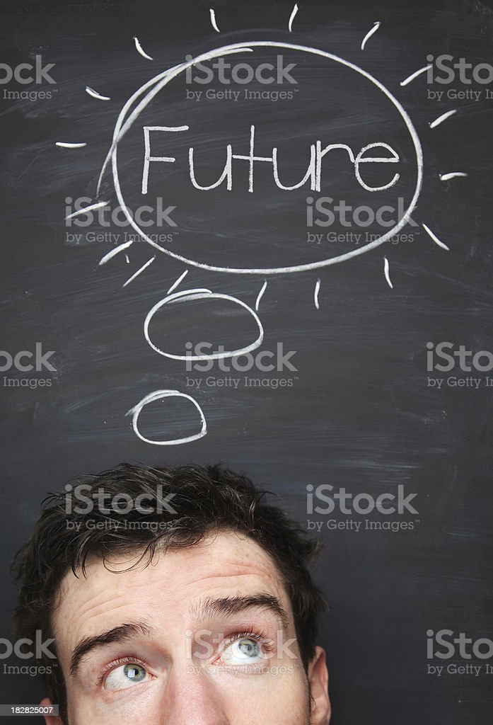 Think about the future royalty-free stock photo