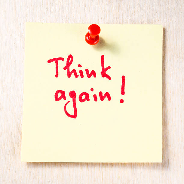 Think again note on paper post it
