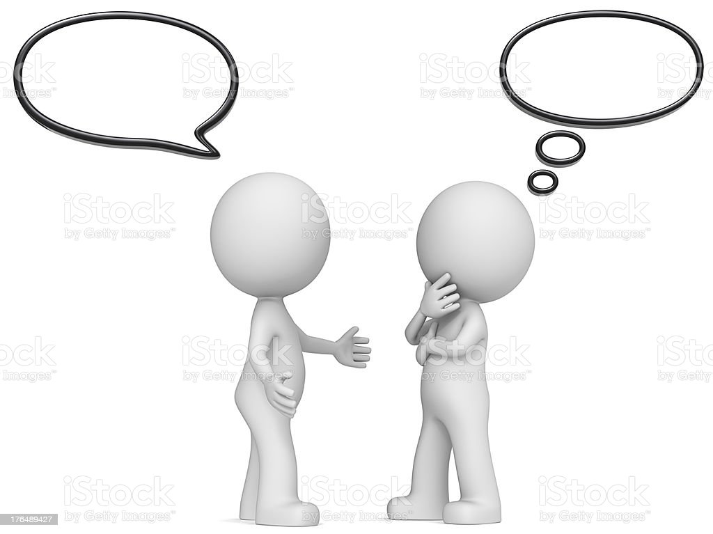 Think and Speech Bubbles. royalty-free stock photo
