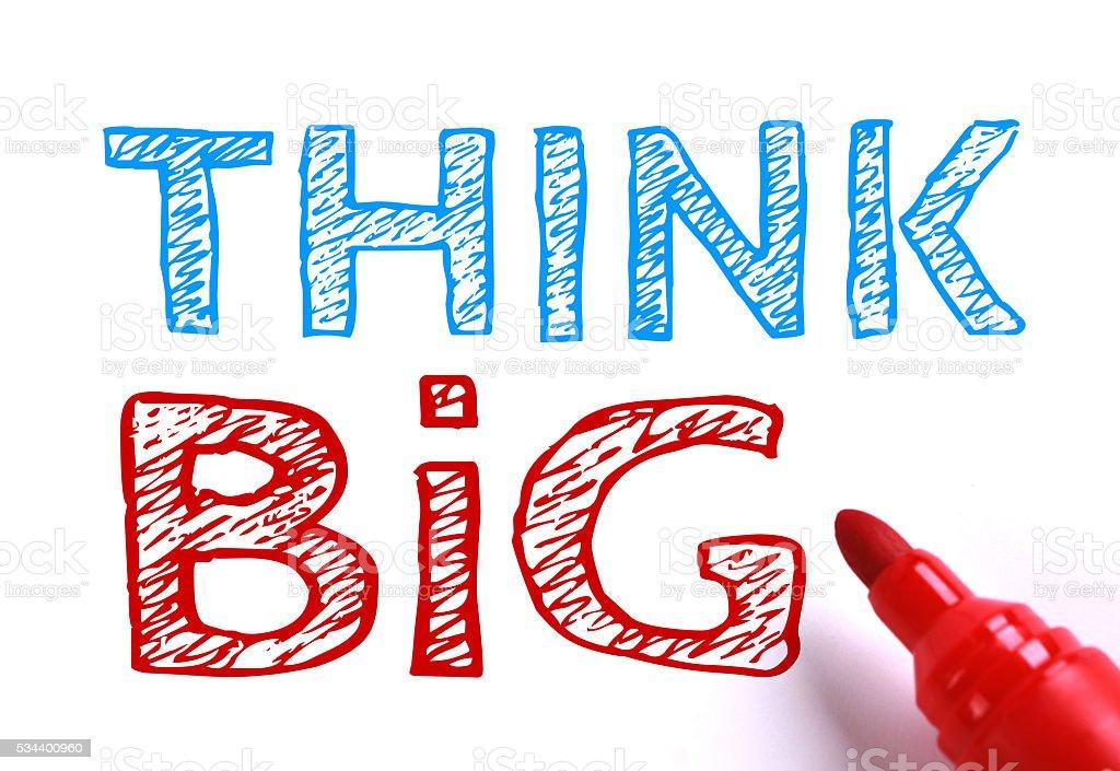 Think big stock photo