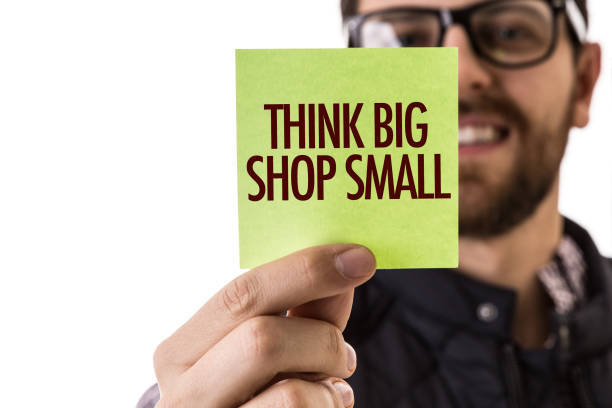 Think Big Shop Small stock photo
