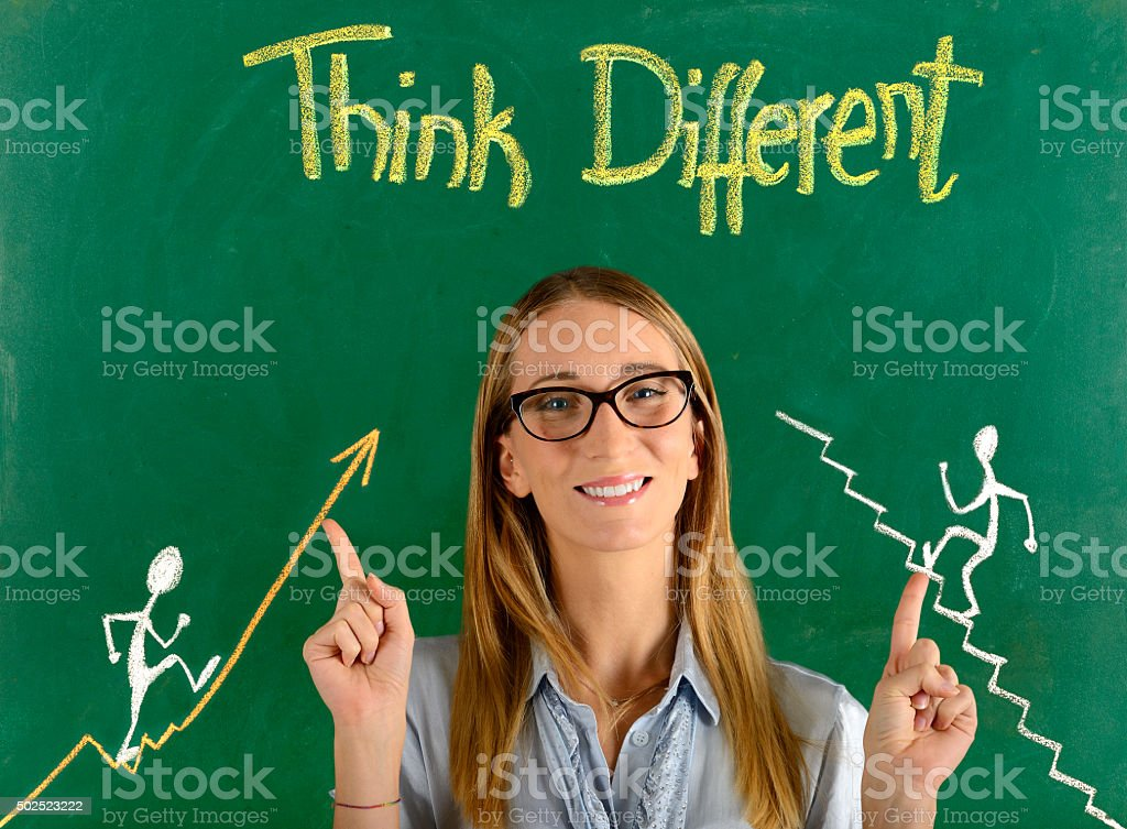 Think different concept stock photo