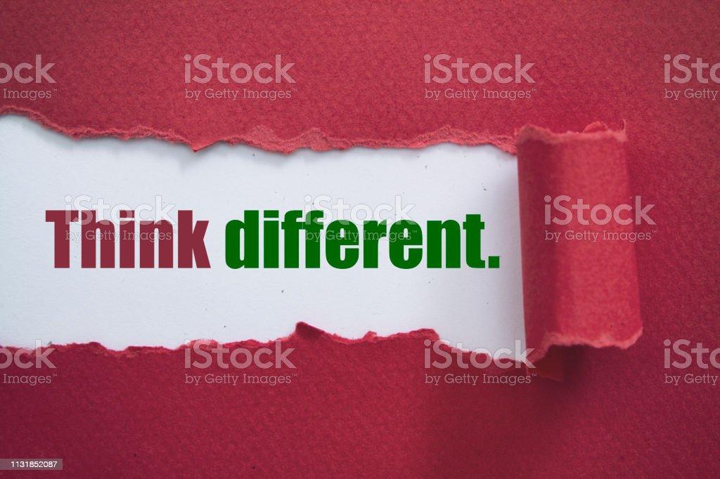 Farklı düşünün stok fotoğrafı