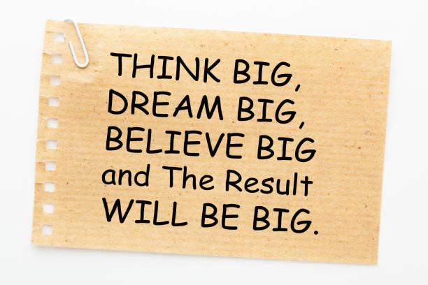 think dream believe ergebnis - bedeutungsvolle zitate stock-fotos und bilder