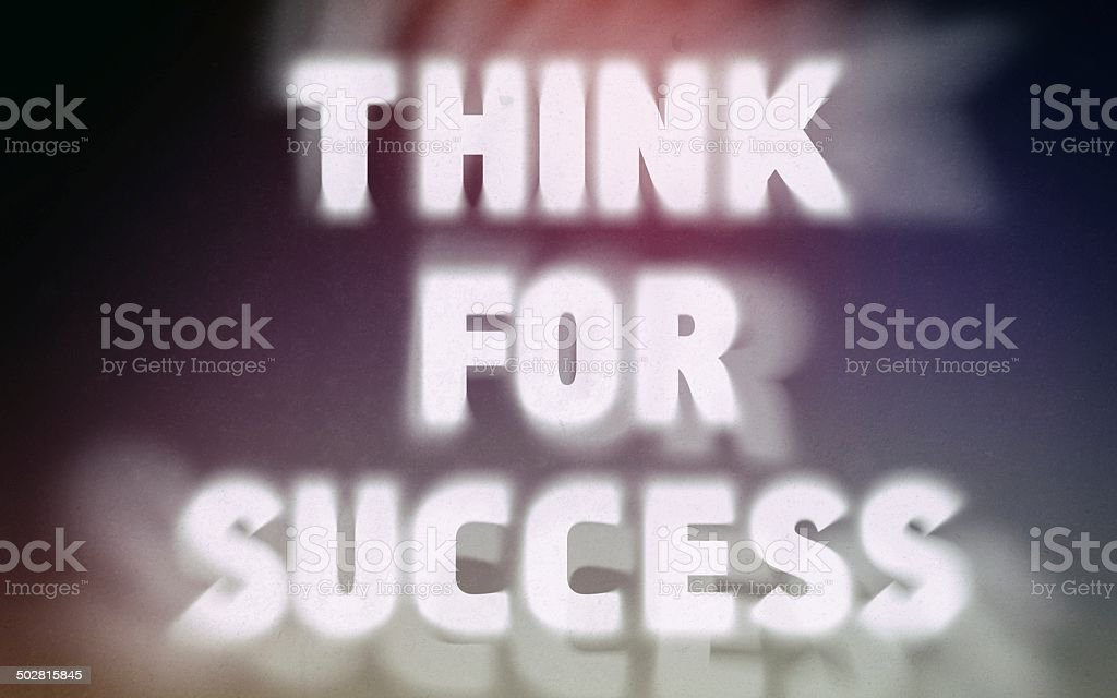Think for success word on vintage blurred background royalty-free stock photo