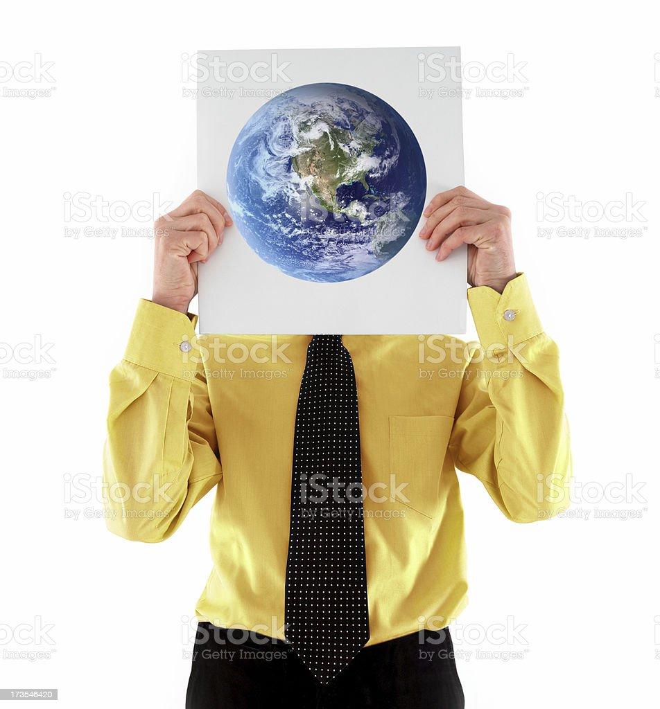 Global denken! Lizenzfreies stock-foto