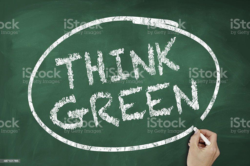 Think Green royalty-free stock photo