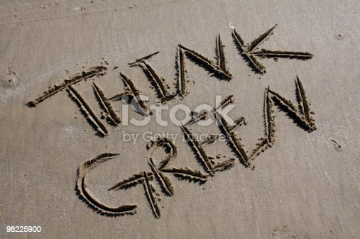 Think Green Stock Photo & More Pictures of Advice