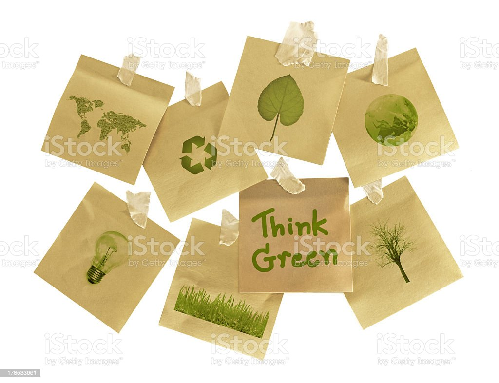 A think green post it note selection stock photo