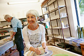 Shot of a senior couple working with ceramics in a workshophttp://195.154.178.81/DATA/i_collage/pu/shoots/806389.jpg