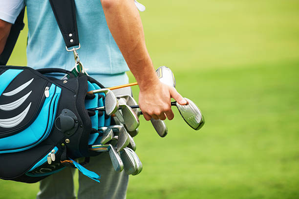 i think its time for a driver - golf clubs stock photos and pictures