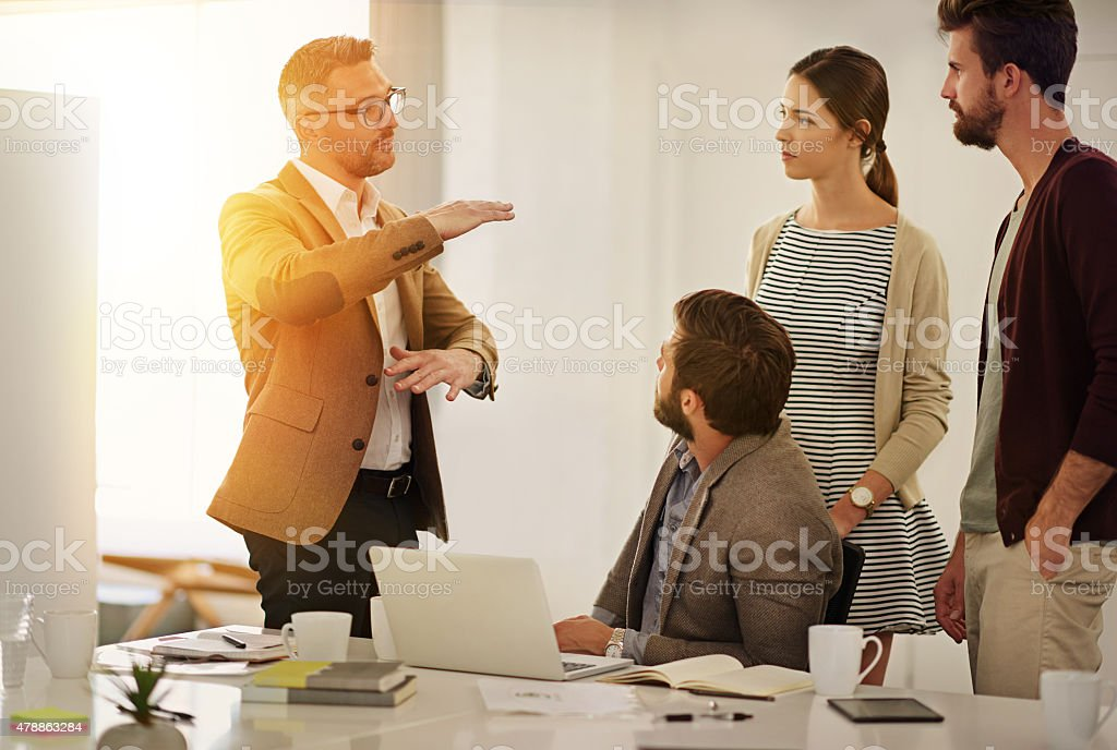 I think it's time we broke some new ground stock photo