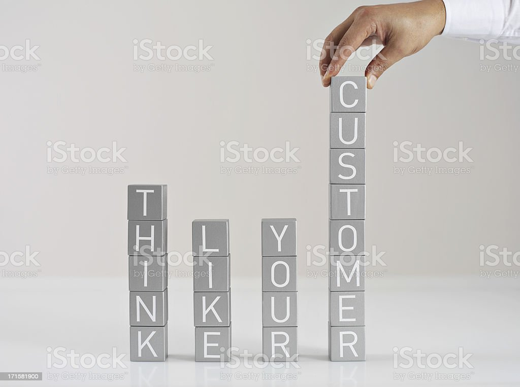 Think Like Your Customer royalty-free stock photo