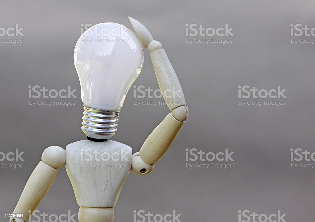 think of a bright idea concept royalty-free stock photo