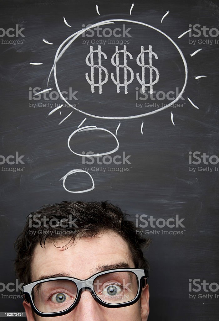 Think of Money royalty-free stock photo